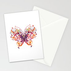 Multicolor Butterfly Stationery Cards
