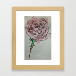 every rose has thorns 2 Framed Art Print