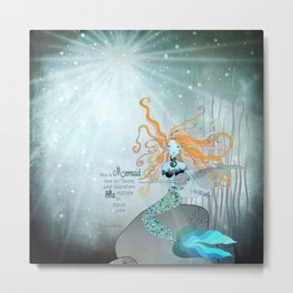 THE LITTLE MERMAID Metal Print