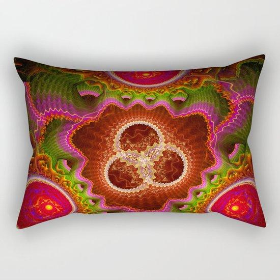 Balance and Chaos, modern fractal abstract Rectangular Pillow