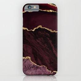 Burgundy Geode & Gold Glitter // 02 iPhone Case