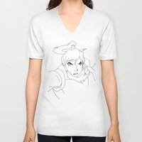 legend of korra V-neck T-shirts featuring Korra by TheGiz