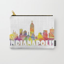 Indianapolis Indiana  Skyline MCLR 2 Carry-All Pouch