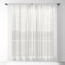 Gold ticking stripes Sheer Curtain