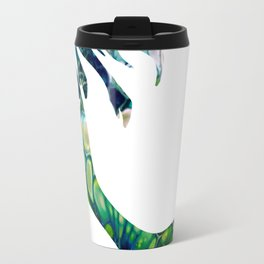 Green Fluid Acrylic Mermaid - Fantasy Abstract Art Travel Mug