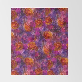 Bold Dreamy Roses Throw Blanket