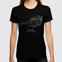 Austria Road Map T-shirt