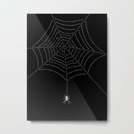 Web of Lies Metal Print