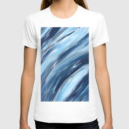 Blue Abstract Brushstrokes T-shirt