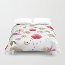 Cute soft spring pattern with flowers Duvet Cover