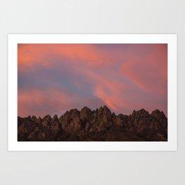 Sunset over the Organ Mountains Art Print