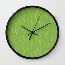 A pencil and a dream... greenery! Wall Clock