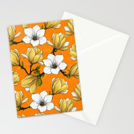 Magnolia garden in yellow    Stationery Cards