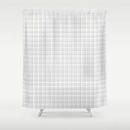 Grey White Check Shower Curtain