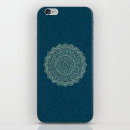 Rose Gold Marble Mandala Turquoise Textured iPhone Skin
