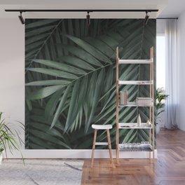 Elegant Green Tropical Leaves Wall Mural