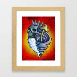 Skull Wave Framed Art Print