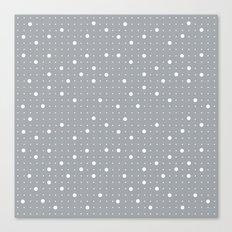 Pin Points Grey Canvas Print