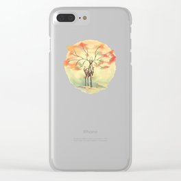 Essence of Nature - A Deer's Echo Clear iPhone Case