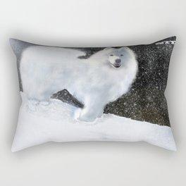 """Samoyed Portrait """"Snowy Night"""" Niya Rectangular Pillow"""