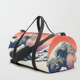 The Great Wave of English Bulldog Duffle Bag