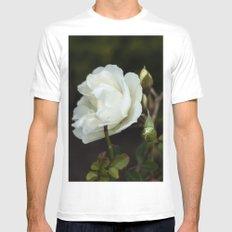white rose White MEDIUM Mens Fitted Tee