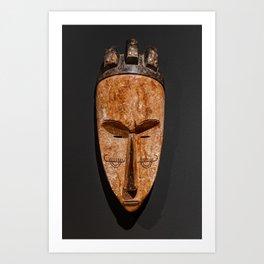 Cameroon fang ngil african wooden mask Art Print