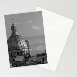 Dome of Our Lady of Mount Carmel in Valletta, Malta Stationery Cards