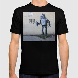Banksy Robot (Coney Island, NYC) T-shirt