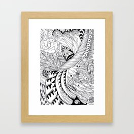 Ornate pattern Framed Art Print