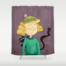 Cat Girl Shower Curtain