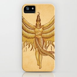 Isis, Goddess Egypt with wings of the legendary bird Phoenix iPhone Case