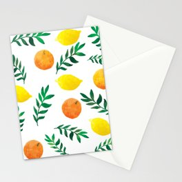 Fresh lemon and orange Stationery Cards
