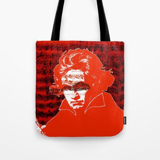 Ludwig van Beethoven · red10 Tote Bag