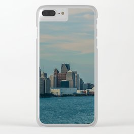 Detroit cityscape Clear iPhone Case
