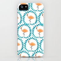 Flamingo and Leaves iPhone (5, 5s) Slim Case
