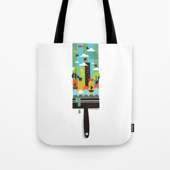 Paint your world Tote Bag