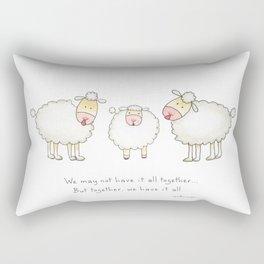Family of 3 Sheep Rectangular Pillow