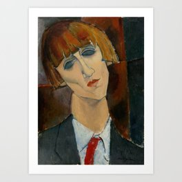 "Amedeo Modigliani ""Madame Kisling""(1917) Art Print"