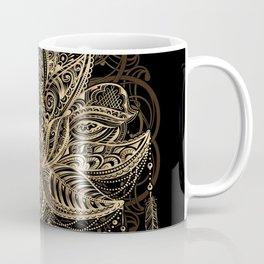 Lotus Black & Gold Coffee Mug