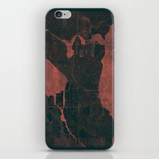Seattle Map Red iPhone & iPod Skin