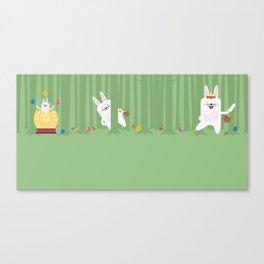 Easter Bunnyville Canvas Print