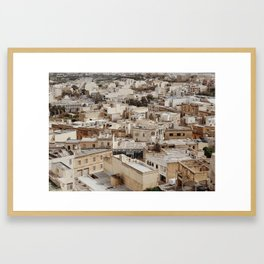 Buildings in Malta Framed Art Print