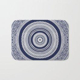 Denim Mandala Bath Mat