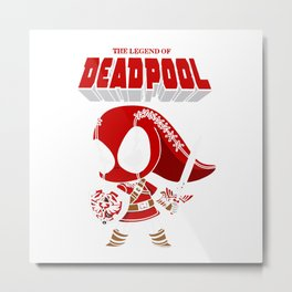 The Lagend Of Dead pool Metal Print
