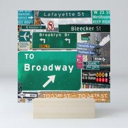 New York City Streets Mini Art Print