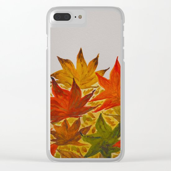 Autumn abstract watercolor 03 Clear iPhone Case