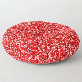 red dice white pips stacked Floor Pillow