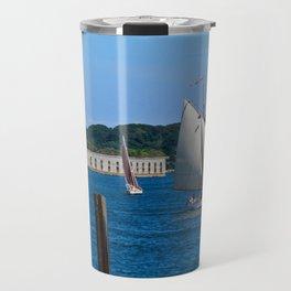 Sailboats in Portland, Maine Travel Mug