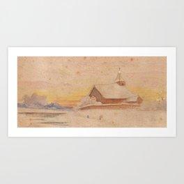 Adolf Painting dawn church Art Print